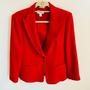 Talbots Bright Red Women Blazer Jacket